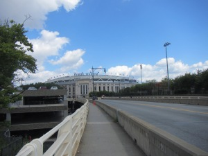 The new Yankee Stadium at game time.