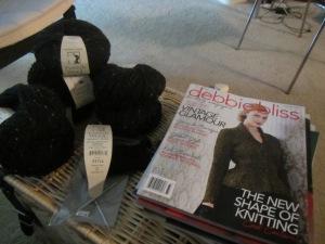 Debbie Bliss cover sweater in black tweed wool