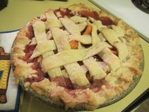 Peaches grown in Hughson, pie made by American Julie