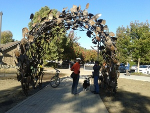 Christopher Fennell just completed the Shovel Gateway for UC Davis Arboretum