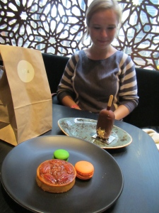 Diana admiring our selections before we devoured them!