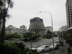 "The capitol building in Wellington is nicknamed the ""Beehive""."