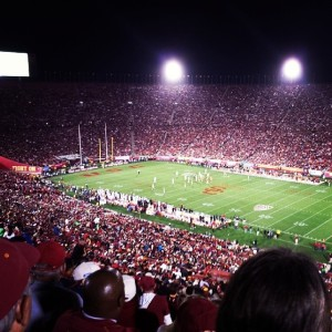 USC vs Stanford at Homecoming in the Los Angeles Coliseum