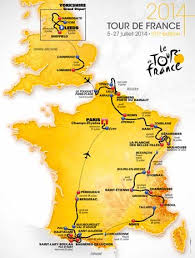 Route Map of Tour de France 2014