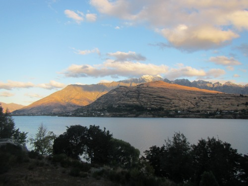 Gaze all day? Lake Wakatipu from our apartment in The Rees