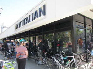 The TUBA Sacramento event's start and finish at Hot Italian pizza place
