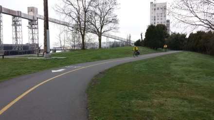 Bicycle and jogging path through the Sculpture Park.