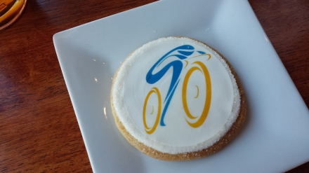 Amgen Tour of California inspired sugar cookie from Karen's Bakery