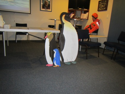 These plywood penguins are helpful educational tools, but I want to see real penguins in the wild!