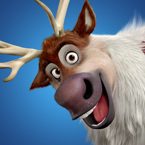 Sven the charismatic reindeer from Disney's Frozen animated film.