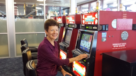 Will I be able to drag Auntie J away from the slots when they board our Southwest Flight?