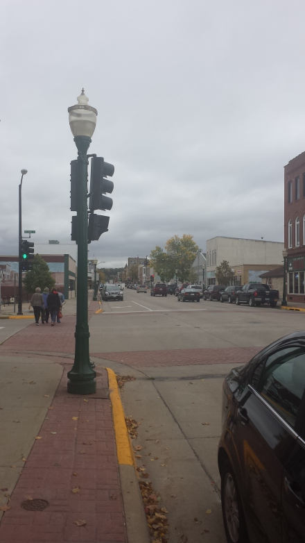 Downtown Decorah. Yes, there is a stoplight.