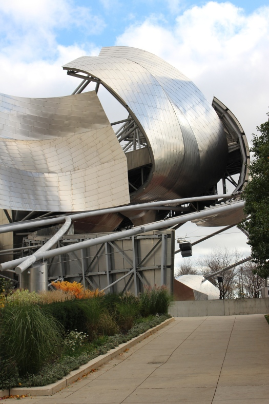 Frank Gehry designed the Jay Pritzger Pavilion at Millenium Park