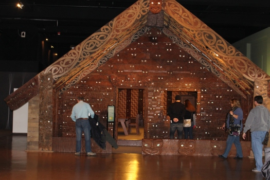 Maori meeting house at Field Museum