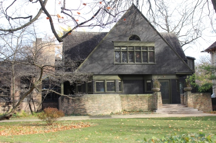 Frank Lloyd Wright's first home was built on the edge of the prarie.