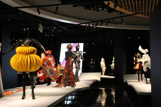 The catwalk at the WOW exhibit allows you to see some of the best designs from various years.