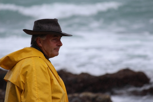 Dr. Gerry McSweeney, guide and host at Wilderness Lodge. Also keeper of the habitat along this stretch of coastline.