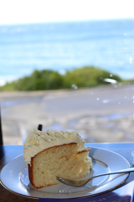 Cake and my own thoughts at Lands End