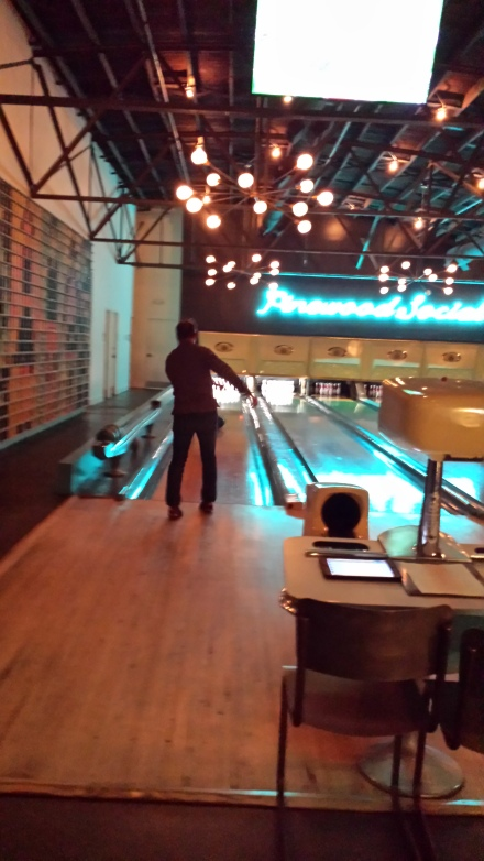 Pinewood Social bowling alley