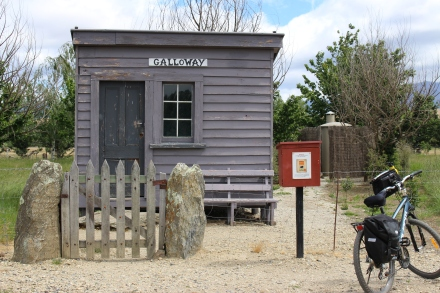 Stamp your passport at the Galloway shed on Otago Central Rail Trail