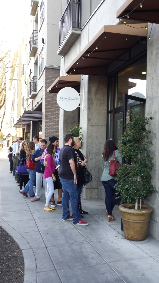 The day before Valentine's Day the line went down the block at Ginger Elizabeth chocolate shop.