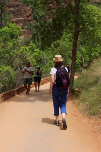 Hiking the trails in Zion.