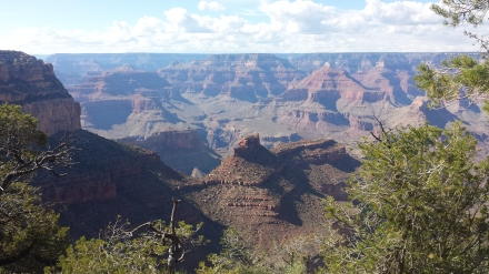 Our first view of the Grand Canyon.