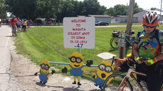he townspeople of Washta are crazy about Minions. There were hay bale minions and these cuties.