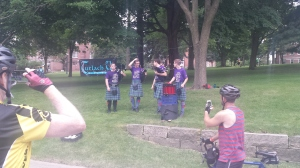 Drum and Pipe band in Mt. Vernon