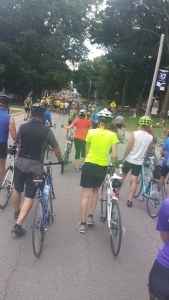 Thousands and thousands of cyclists converge in Mt. Vernon for rest and recreation.