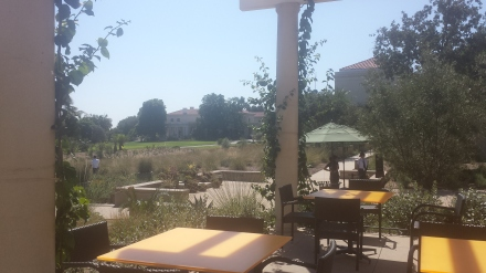 The new cafe at Huntington Gardens has great outdoor seating.