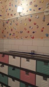 Adorable women's restroom in Blue Plate Oysterette