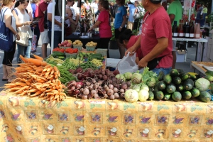 vegetables at Des Moines farmers' market