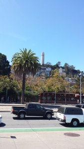 Coit Tower on the hill