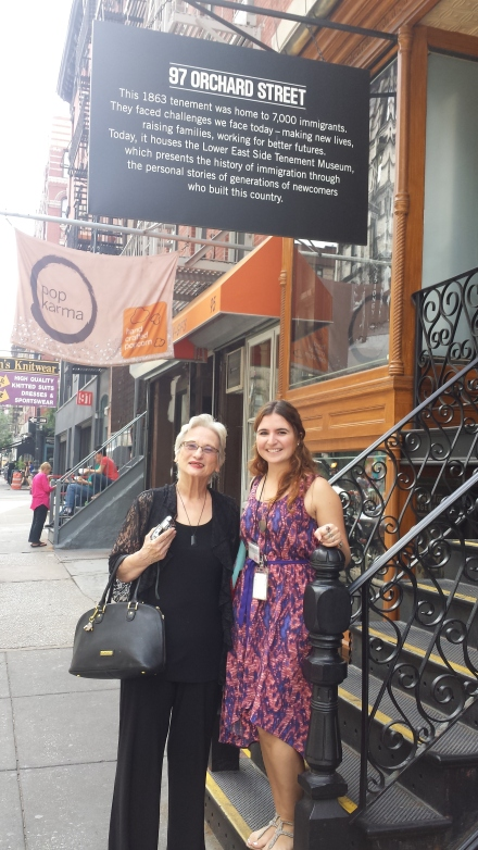 My mom Karen with Tenement Museum guide Laura.
