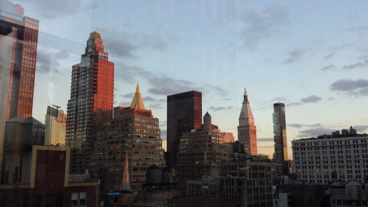 The view from the rooftop restaurant at the Hyatt on Herald Square