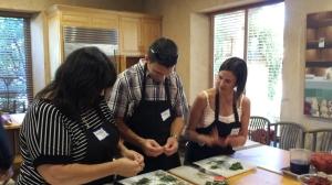 Participants in Ramekins cooking class