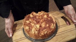 Finished Apple Cake with Grappa. Yum!