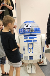 Robotic R2D2 in LEGO ready for new Star Wars release.