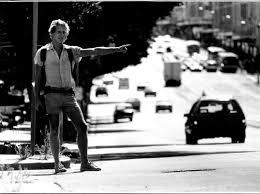 Tony hitchhiking